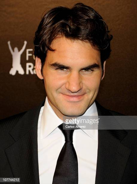 Roger Federer attends Rafa Nadal Foundation Charity Gala at Cibeles Palace on December 22 2010 in Madrid Spain