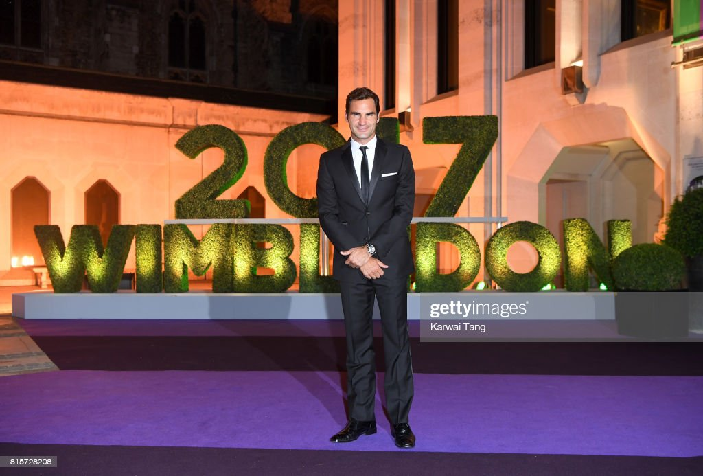 Roger Federer attends the Wimbledon Winners Dinner at The Guildhall on July 16, 2017 in London, England.