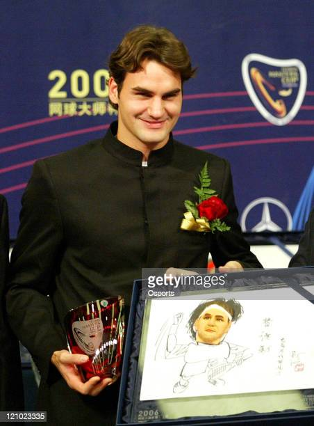 Roger Federer during a press conference prior to the 2006 Masters Tennis Cup Shanghai in Shanghai China on November 11 2006