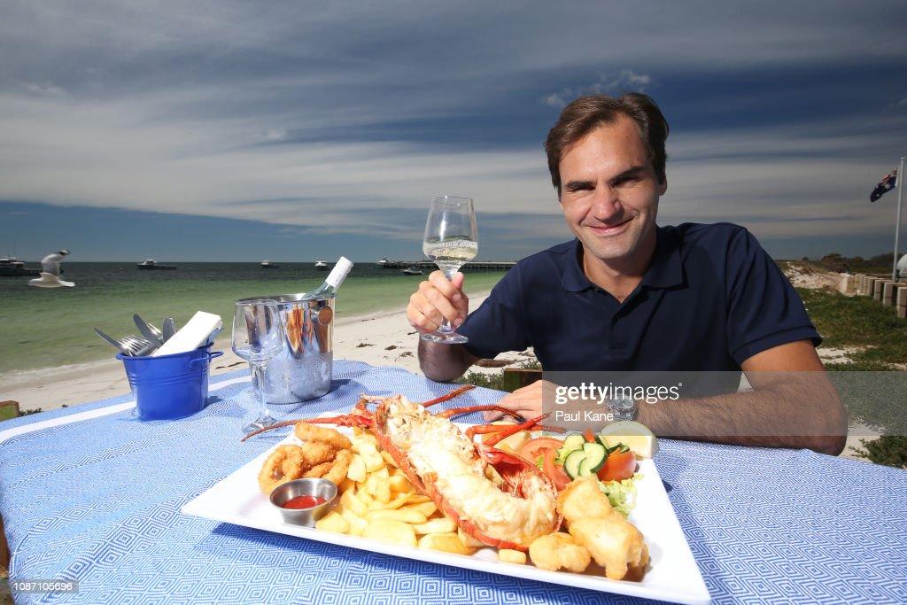 2019 Hopman Cup - Roger Federer Media Opportunity : News Photo