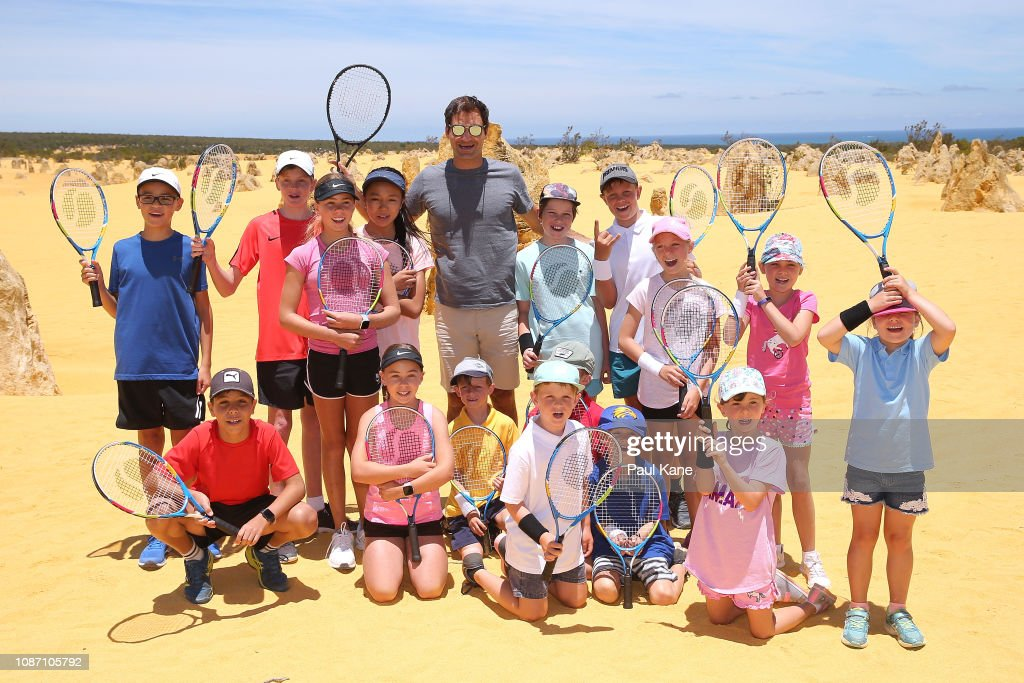 2019 Hopman Cup - Roger Federer Media Opportunity : News Photo