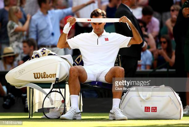 147 Roger Federer Headband Photos And Premium High Res Pictures Getty Images