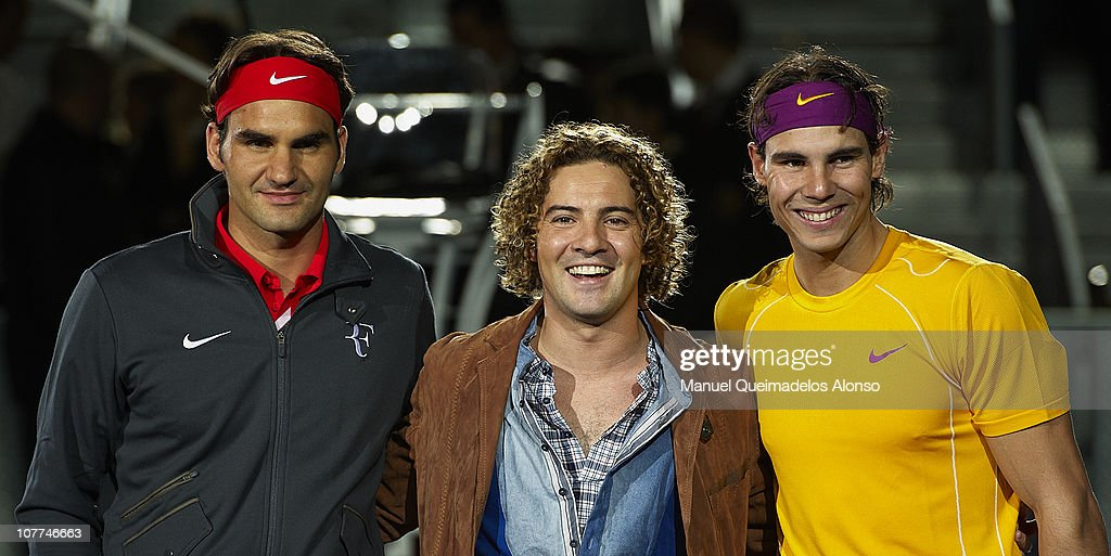 Rafael Nadal Plays Roger Federer In A Charity Exhibition Match : News Photo
