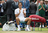 london england roger federer switzerland applauds