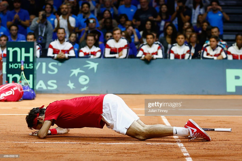 France v Switzerland - Davis Cup World Group Final: Day Three : News Photo