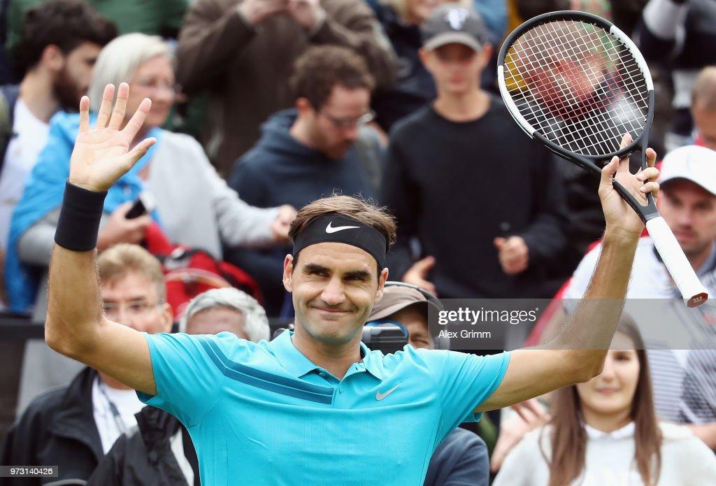 Roger Federer v Mischa Zverev - Mercedes Cup Stuttgart : News Photo