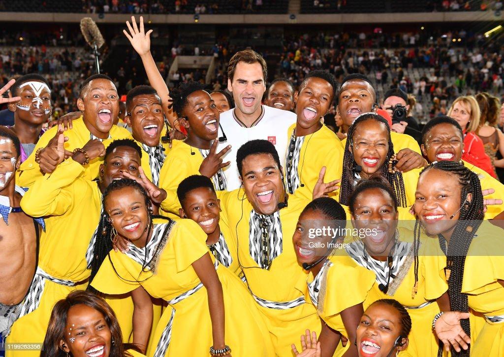 The Match in Africa: Roger Federer v Rafael Nadal : News Photo