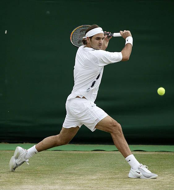 Roger Federer of Switzerland in action