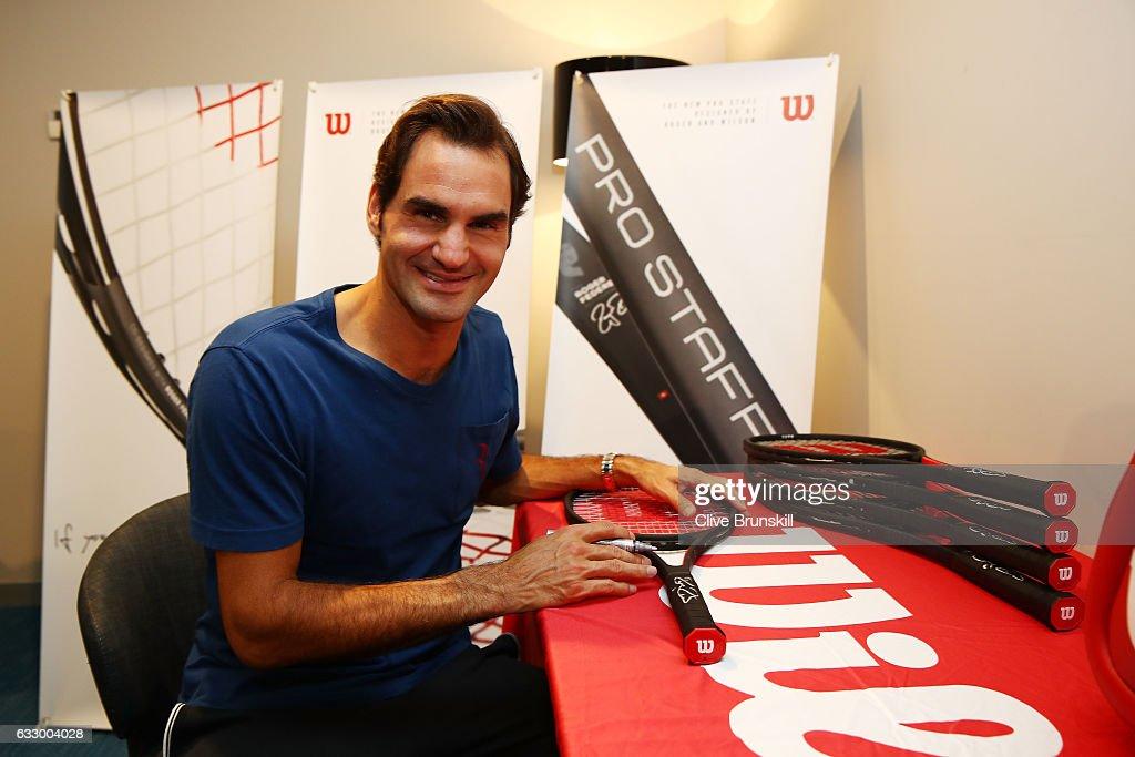 Roger Federer Honored with Commemorative 18 Grand Slam Tennis Racket