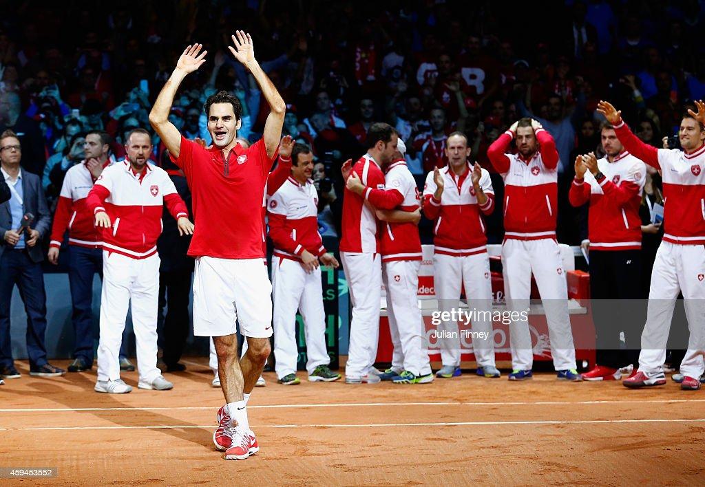 France v Switzerland - Davis Cup World Group Final: Day Three : ニュース写真