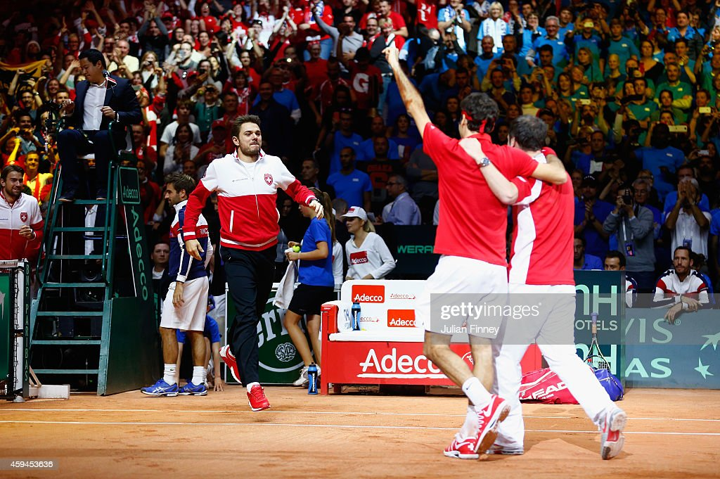 France v Switzerland - Davis Cup World Group Final: Day Three : News Photo