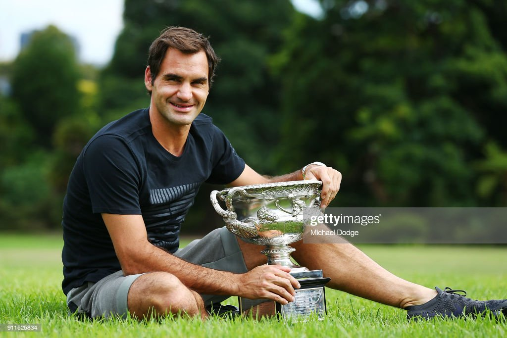 2018 Australian Open: Men's Trophy Media Opportunity : News Photo