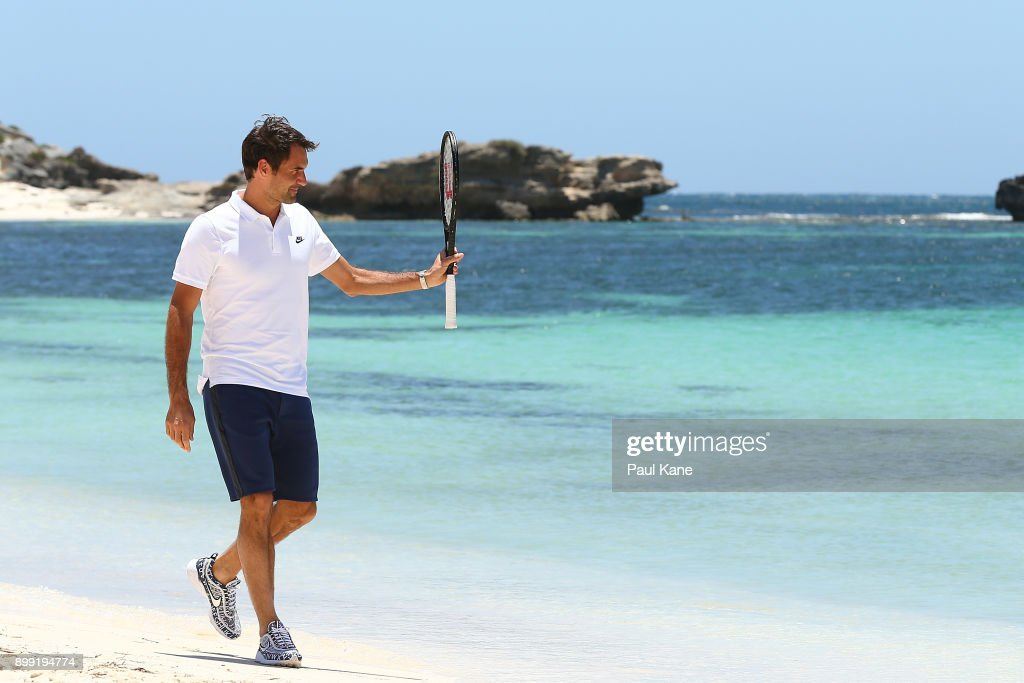 2018 Hopman Cup Roger Federer Media Opportunity : News Photo