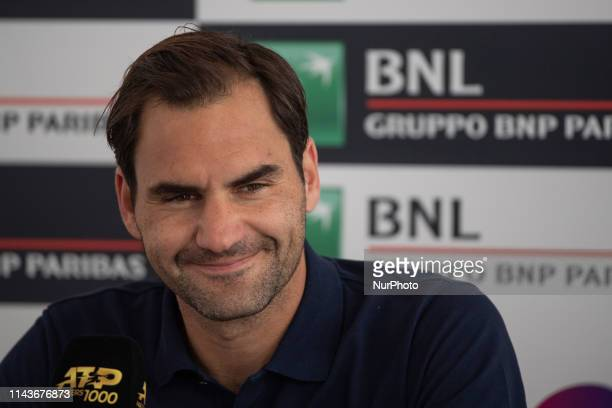 Roger Federer press conference during Internazionali BNL D'Italia Italian Open at the Foro Italico Rome Italy on 14 May 2019
