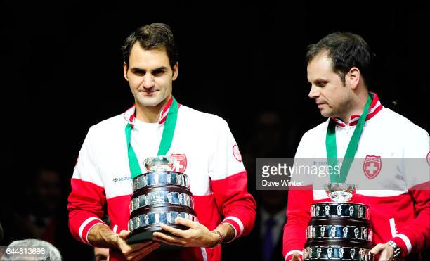 Roger FEDERER / Severin LUTHI France / Suisse Finale Coupe Davis Photo Dave Winter / Icon Sport