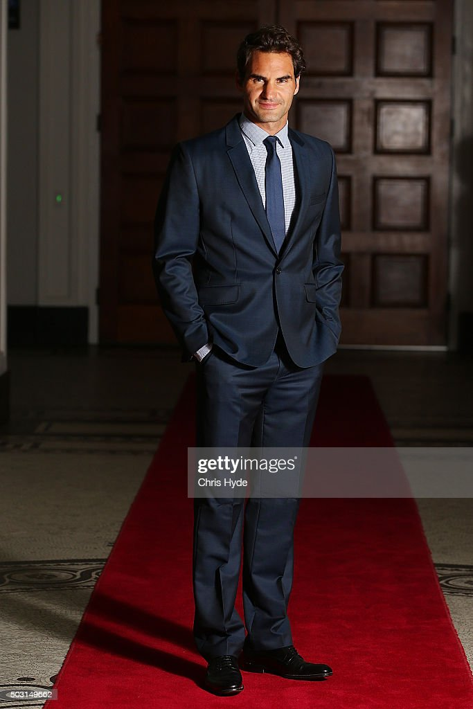Roger Federer talks arrives for the Summer Nights player party at Brisbane City Hall ahead of the 2016 Brisbane International on January 2, 2016 in Brisbane, Australia.