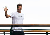 london england roger federer wearing his