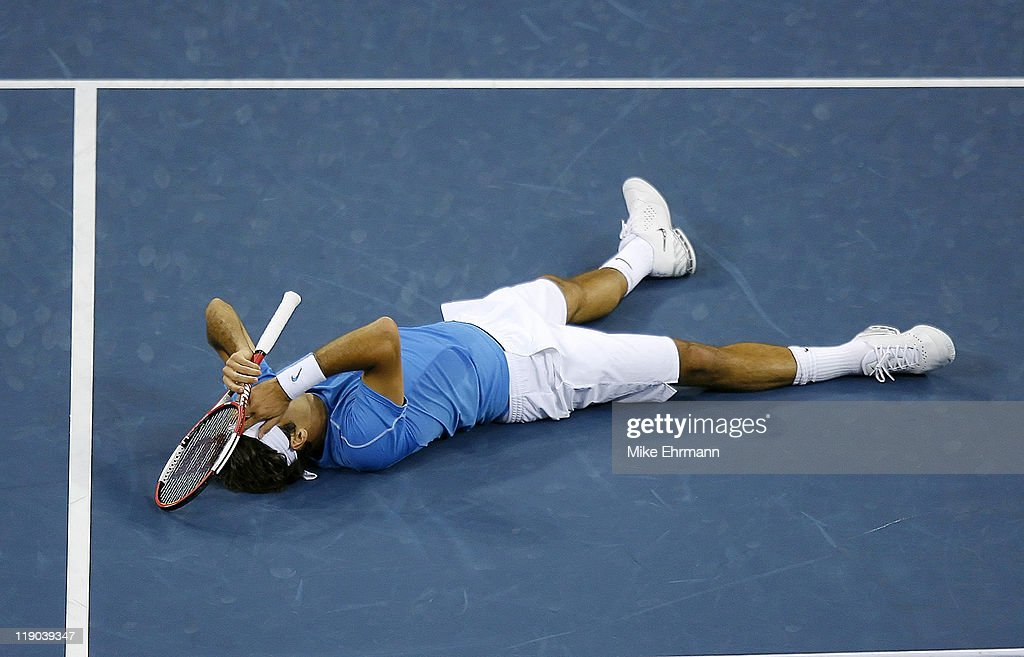 Roger Federer wins the mens final against Andy Roddick at the 2006 US Open at the USTA National Tennis Center in Flushing Queens, NY on September 9, 2006.