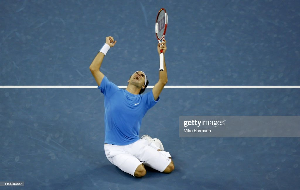 2006 U.S. Open - Mens Final - Roger Federer vs Andy Roddick : News Photo