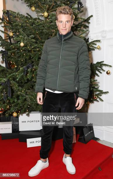 Roger Frampton attends a party hosted by NETAPORTER and MR PORTER to celebrate the festive season in style at One Horse Guards on November 30 2017 in...