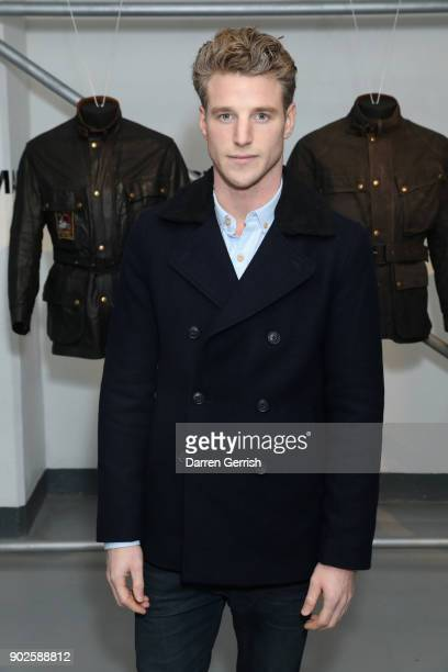 Roger Frampton attends the Belstaff AW18 Mens Womens Presentation during London Fashion Week Men's January 2018 on January 8 2018 in London England