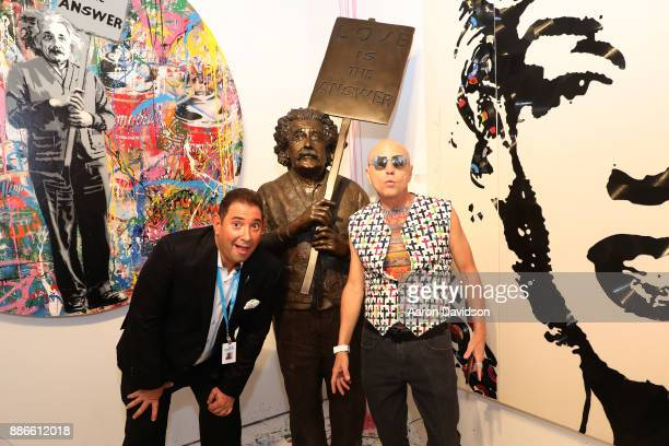 Roger Friedman and Art Dealer Poet Jimmy D Robinson attends Art Miami VIP Kickoff at Art Miami Pavilion on December 5 2017 in Miami Florida