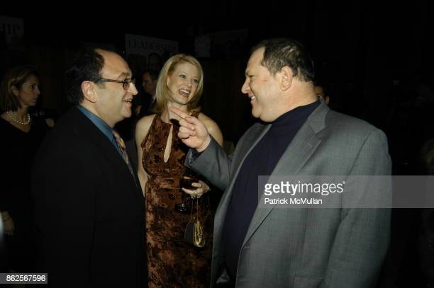Roger Friedman Eve Chilton Weinstein and Harvey Weinstein attend Miramax Books Party for Rudolph Giuliani and his newest book Leadership at Four...