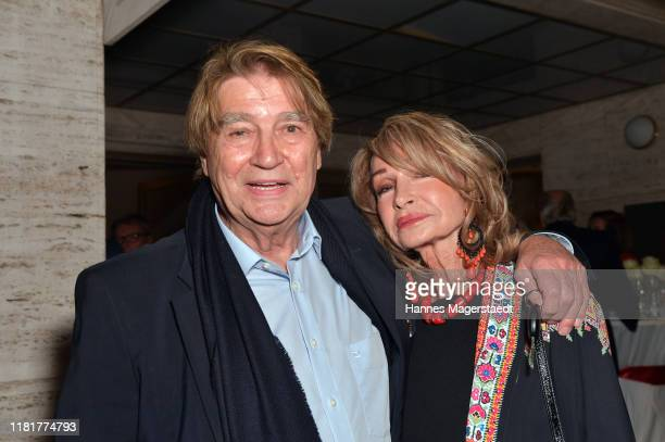 Roger Fritz and his wife Margit Friedrich at the Pop Art exhibition of the italian artist Giuseppe Veneziano at Galerie Kronsbein on October 17 2019...