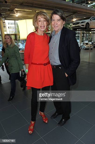 Roger Fritz and his wife Margit Friedrich attend the private concert with Ludvig Andersson and his band ATLAS at MercedesBenz Center on September 15...