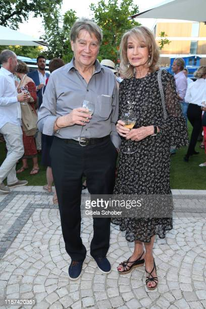Roger Fritz and his wife Margit Friedrich during the Ein Abend mit Franciacorta event at Villa Wagner on July 23 2019 in Munich Germany