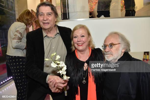 Roger Fritz fashion designer Susanne Wiebe and Fred Sillkraut during 'Maximilian Seitz EinwicklungenImpressionismusFest im Orient' Exhibition Opening...