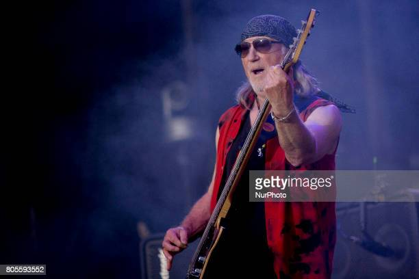 Roger Glover of Deep Purple during his performance at Rock Fest Barcelona 2017 Festival in Santa Coloma Spain on July 01 2017