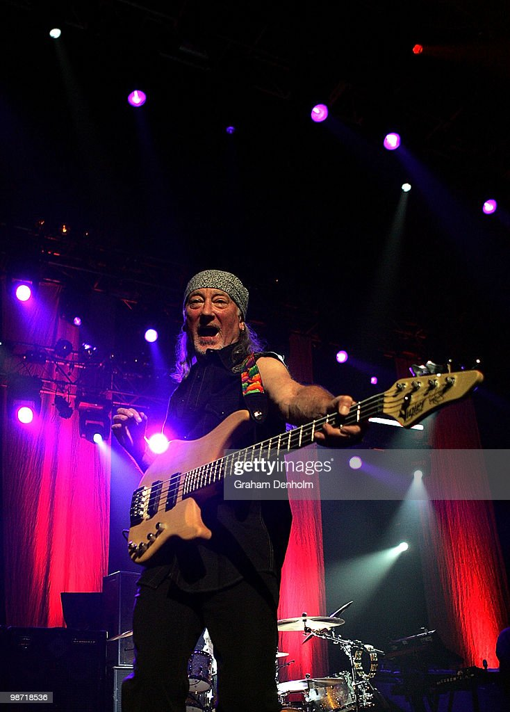 Roger Glover of Deep Purple performs on stage during their concert at the Sydney Entertainment Centre on April 28, 2010 in Sydney, Australia.
