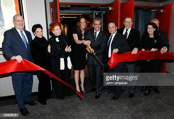 Roger Goldman Liza Minelli Arlene Dahl Clo Cohen Charles Cohen and Katherine Oliver attend the ribbon cutting ceremony for the grand reopening of...