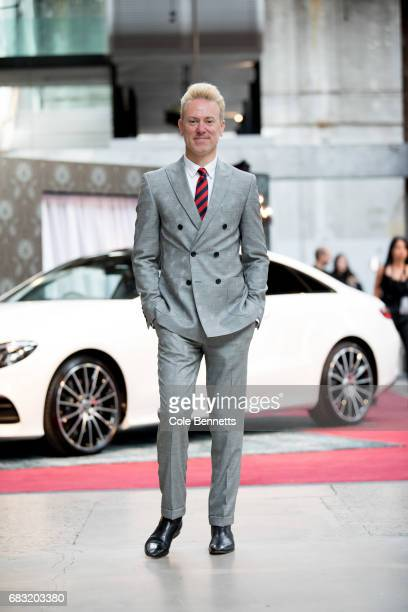 Roger Grinstead wearing a suit of his own design during MercedesBenz Fashion Week Resort 18 Collections at Carriageworks on May 15 2017 in Sydney...