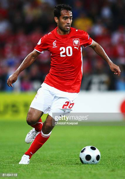 Roger Guerreiro of Poland in action during the UEFA EURO 2008 Group B match between Germany and Poland at Worthersee Stadion on June 8, 2008 in...