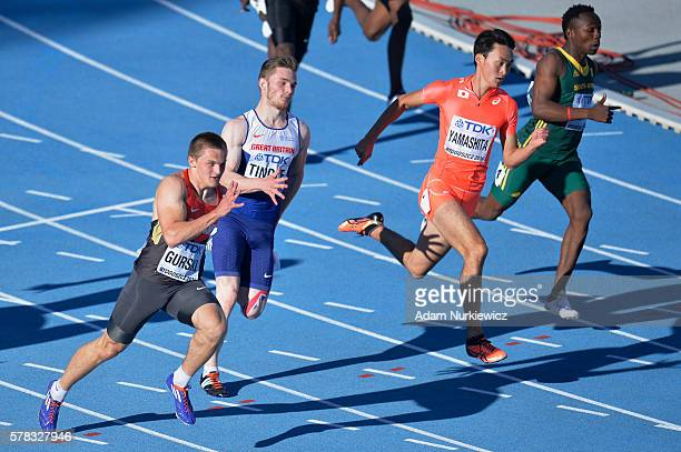 Roger Gurski from Germany competes in men's 200 metres semifinal during the IAAF World U20 Championships at the Zawisza Stadium on July 21 2016 in...