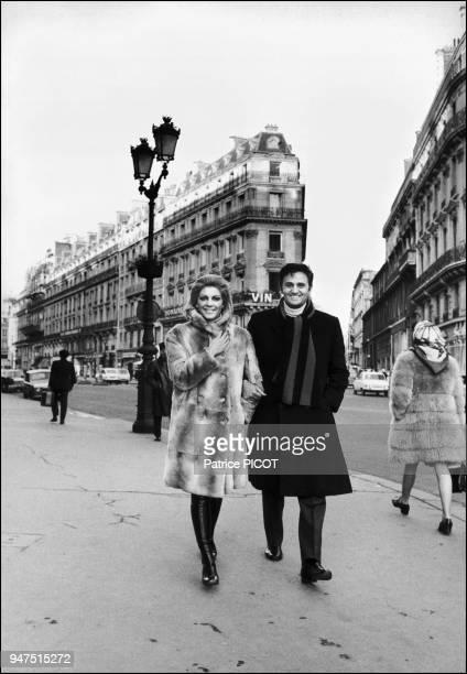 Roger Hanin and Christine Caron 1970