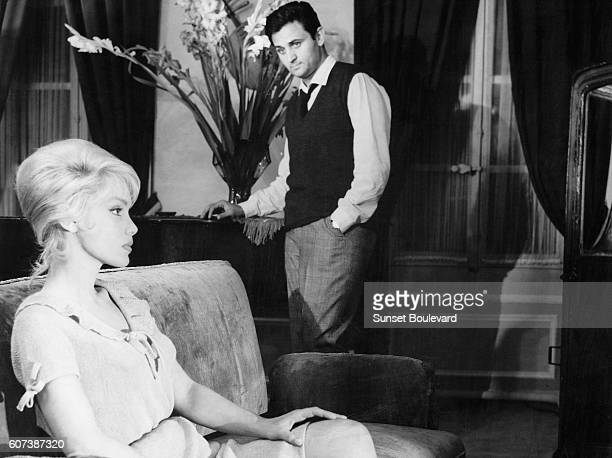Roger Hanin and Estella Blain in the 1960 French film L'Ennemi Dans l'Ombre directed by Charles Gerard