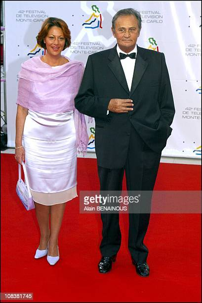 Roger Hanin and his daughter Isabelle in Monaco on July 01 2002