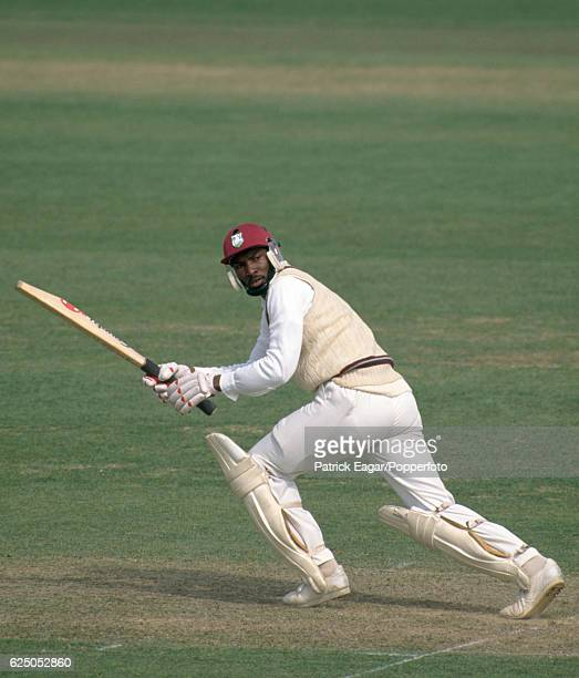 Roger Harper batting for West Indies during his innings of 217 not out in the tour match between Sussex and the West Indians at the County Ground...