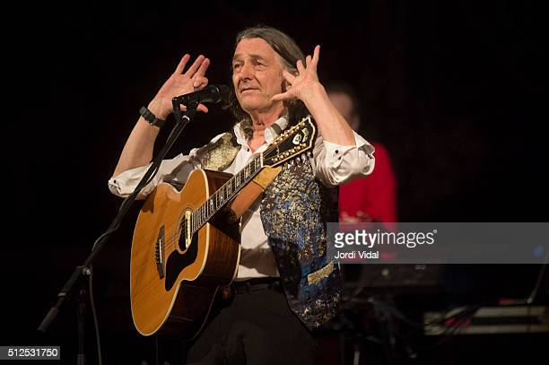 Roger Hodgson perfoms on stage during Festival del Millenni at Palau de la Musica on February 26 2016 in Barcelona Spain