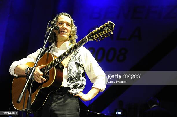 Roger Hodgson the cofounder of Supertramp performs on stage at the 'Ball of Stars 2008' on October 18 2008 in Mannheim Germany