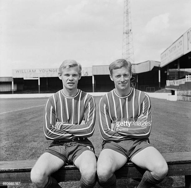 Roger Holmes and John Milner of of Lincoln City FC UK 8th August 1966