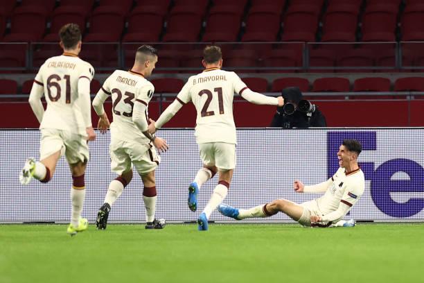 NLD: Ajax v AS Roma - UEFA Europa League Quarter Final: Leg One