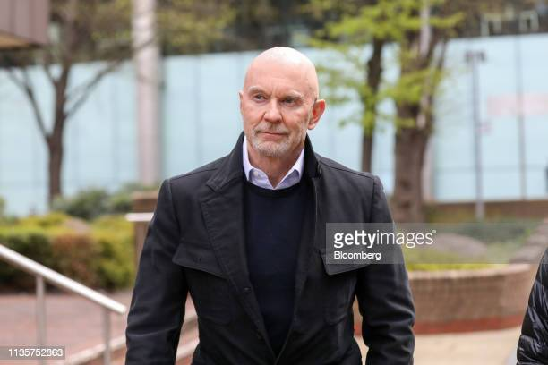 Roger Jenkins former chairman of investment banking for the Middle East at Barclays Plc leaves Southwark Crown Court following a day of his hearing...