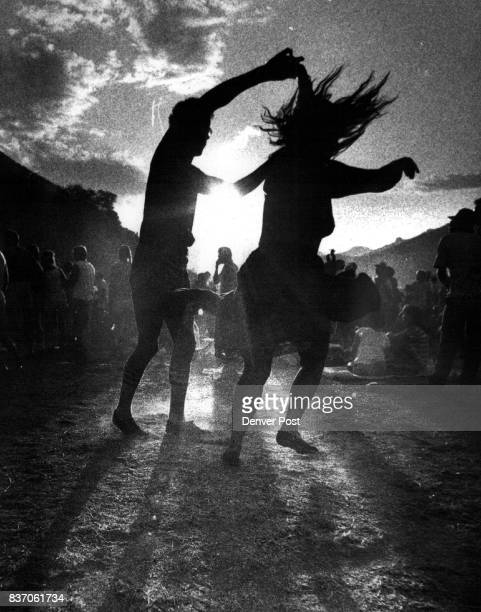Roger Jimenes of Eaton Dolo and Robin Meyers of Ft Collins Dance into the sunset Credit The Denver Post