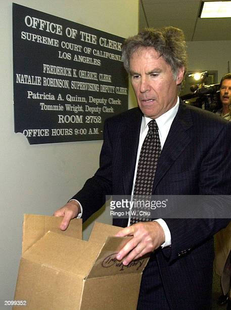 Roger Jon Diamond attorney for Max Factor heir Andrew Luster leaves the Office of the Clerk after a petition asking the California Supreme Court to...