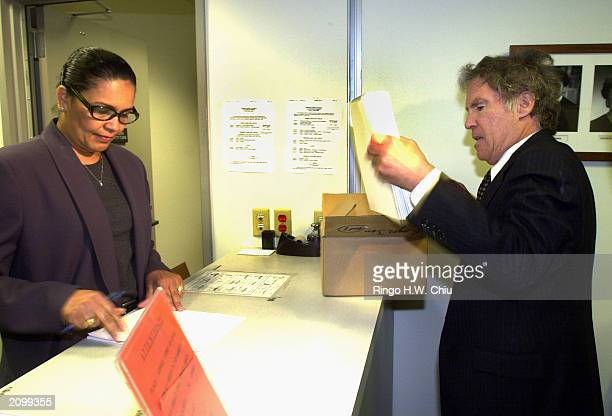 Roger Jon Diamond attorney for Max Factor heir Andrew Luster submits documents to the Office of the Clerk after petitioning the California Supreme...