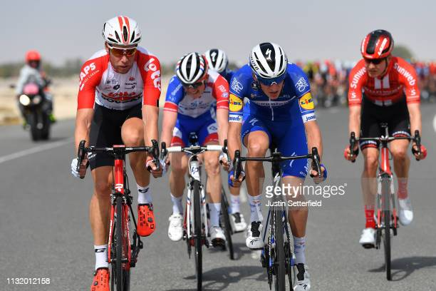 Roger Kluge of Germany and Team Lotto Soudal / Mikkel Frolich Honore of Denmark and Team DeceuninckQuickStep / during the 5th UAE Tour 2019 Stage 2 a...